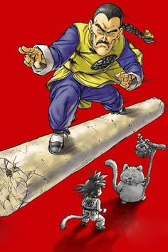 Assassin Tao, Kid Goku and Master Karin