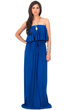 Leesa Maxi Dress is a gorgeous strapless design An excellent fit due to the elastic band within the top hem & draw string waist. Beautiful full length maxi