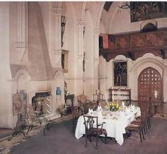Cainewood Castle (inspired by Arundel Castle) -- The family dining room, site of Jason and Caithren's wedding dinner. It used to be a chapel. Castle Rooms, Arundel Castle, Berlin, Family Dining Rooms, Castles In England, Ancient Buildings, Cathedral Church, Old Houses, Places Ive Been