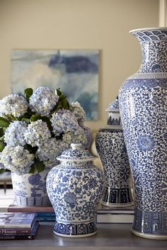 DECORATING WITH BLUE & WHITE (61) via Hadley Court blog.   Love it All