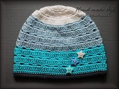 Crochet with love - Hand made Ája Crochet Beanie, Knitted Hats, Crochet Hats, Crochet Headbands, Kids Hats, Baby Hats, Crochet Projects, Winter Hats, Cap
