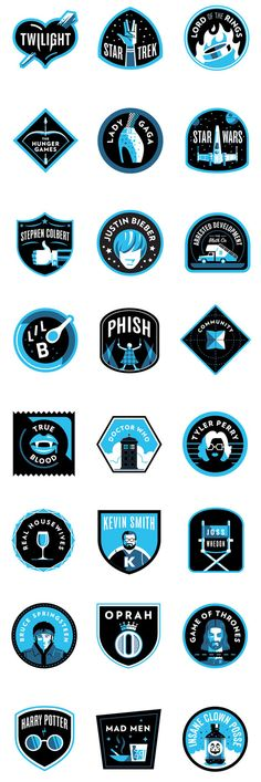 Matt Stevens designed a series of badges for 25 of the most devoted fan bases