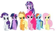 MLP - Smile Parade with Rarity, Twilight Sparkle, Applejack, Pinkie Pie, Rainbow Dash, Fluttershy and Starlight Glimmer
