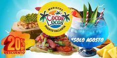 Mariscos Cocos Locos Puerto Vallarta 20% off.