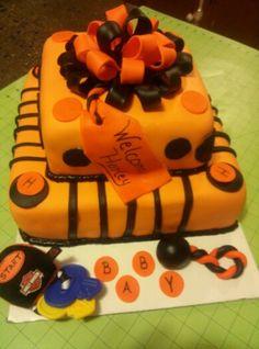 Perfect Harley Davidson Baby Shower Cake