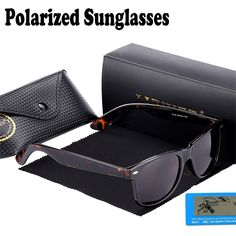 6.29$  Watch now - Hot Top Quality Classic Men Polarized Glasses 2140 Fashion Brand Retro Wayfare UV400 Sun Glasses 54mm lens Oculos female   #buymethat