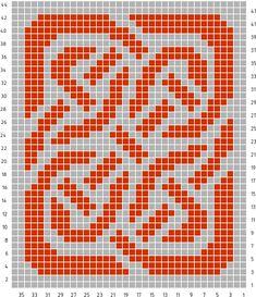 knitting pattern chart Celtic Knot Pattern