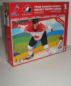 """Sidney Crosby played on Team Canada during the 2010 Winter Olympics in Vancouver. Against the U.S. in the gold medal game, he scored the game-winning goal in overtime. This goal is commonly referred to as """"The Goal"""" and this jigsaw puzzle features the Canadian Crosby when he made the famous goal.  #canadians #hockey #sidneycrosby"""