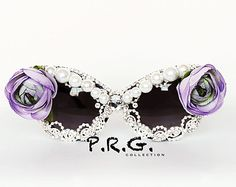 Crystal Clear Embellished Stunner Shades by PrettyRockGirl on Etsy