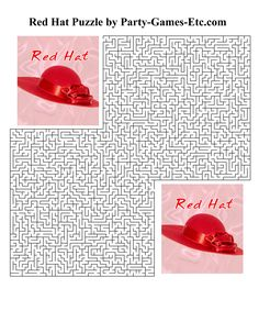 Free Printable Red Hat Party Game and Pen and Paper Activity