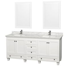 Acclaim 72 in. Double Bathroom Vanity by Wyndham Collection - White