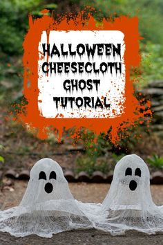 Halloween Cheesecloth Ghost Tutorial. Make spooky DIY Halloween Ghosts using 4 simple craft supplies.