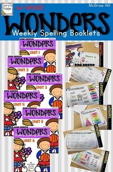 Using McGraw Hill WONDERS? This product might be a helpful spelling tool for your kiddos to practice the weekly spelling/phonics rule. The booklet is 6 half - pages.A Years worth of Spelling FunUnit 1 1st Grade Spelling, 2nd Grade Ela, 2nd Grade Teacher, Teaching First Grade, First Grade Reading, Teaching Reading, Grade 1, Second Grade, Learning