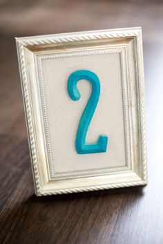 wedding reception framed table numbers