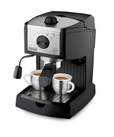 Black and Silver Espresso Machine and Cappuccino Maker DeLonghi 35 oz. Espresso and Cappuccino - The Home Depot Cappuccino Maker, Espresso Maker, Espresso Coffee, Best Coffee, Coffee Maker, Coffee Shop, Espresso Cups, Coffee Lovers, Latte Maker