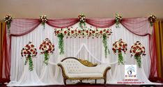 Best Wishes Celebration & Events Pvt Ltd decades of experience in wedding flower decoration, we can proudly state the fact that we are the leading wedding flower decorators in Chennai. Indian Wedding Stage, Wedding Backdrop Design, Wedding Stage Design, Wedding Reception Backdrop, Engagement Stage Decoration, Simple Wedding Decorations, Marriage Decoration, Background Decoration, Deco Originale