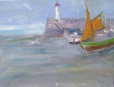 Séléné - tableau toile de lin, peinture huile