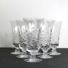 Vintage Etched Crystal Parfait Glasses by Hallingtons on Etsy, $35.00