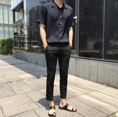 I love birkenstocks and flip flops ulzzang fashion, korean fashion men, best mens fashion Korean Fashion Men, Korean Street Fashion, Best Mens Fashion, Ulzzang Fashion, Asian Fashion, Look Fashion, Korean Men, Fashion 2018, Trendy Fashion