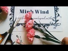 Carnation paper flower - Làm hoa cẩm chướng giấy sần - YouTube