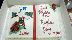 Confirmation cake Comunion Cakes, Cupcake Cookies, Cupcakes, Religious Cakes, Confirmation Cakes, Occasion Cakes, Birthday Parties, Birthday Cakes, Cake Decorating