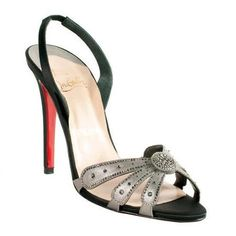 Pre-Owned Christian Louboutin 'Champus' Slingback Sandals - Size 10.5 / 40.5 Black