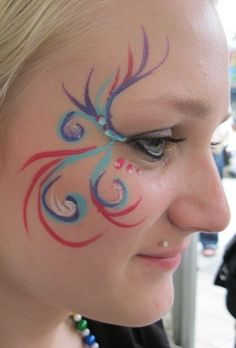 face paint peacock-stuff