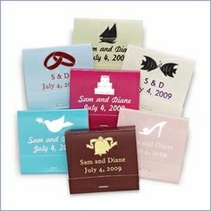 Personalized matchbooks. On sale and en fuego! Through 7/21