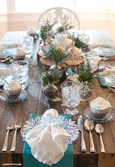 DIY Frozen Brunch Table Decor