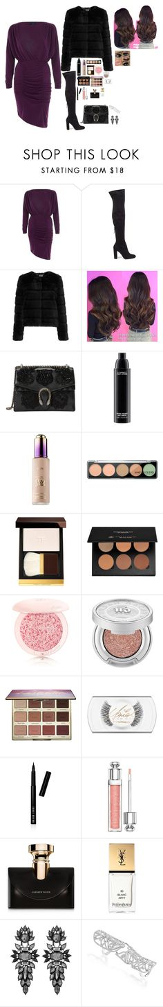 """New Years Eve"" by azra-99 on Polyvore featuring River Island, Steve Madden, Sunshine Soul, Gucci, MAC Cosmetics, tarte, MAKE UP FOR EVER, Tom Ford, Anastasia Beverly Hills and Guerlain"