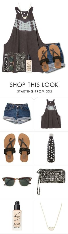 """Untitled #326"" by lacrosse-19 ❤ liked on Polyvore featuring RVCA, Billabong, S'well, Ray-Ban, NARS Cosmetics and Kendra Scott"