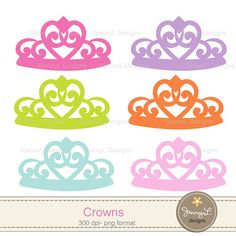 Princess Crown Tiara Clipart Girl party for by JennyLDesignsShop
