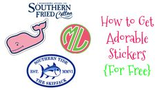 Stay Fabulous: How to Get Adorable Stickers {For Free}! Preppy Southern, Southern Marsh, Southern Tide, Southern Belle, Southern Prep, Preppy Stickers, Free Stickers, Brand Stickers, Preppy Girl
