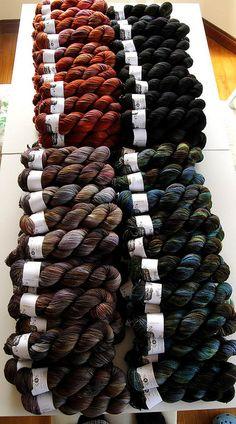 Hedgehog fibres sock club shipment by Hedgehog Fibres, via Flickr