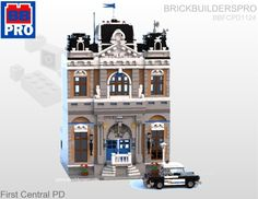 First Central Police Department Modular PDF Lego Instructions Lego Instruction Books, Lego Police Station, Custom Lego Sets, Instructions Lego, Lego Village, Lego Sculptures, Lego Modular, Cool Lego Creations, Lego Architecture