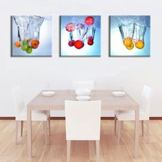Quadro moderno e componibile per cucina n.06 Dining Room Wall Decor, Dining Table, Vip, Painting, Furniture, Home Decor, Dining Room, Trendy Tree, Homemade Home Decor