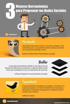 Hola: Una infografía con las 3 mejores herramientas para programar Redes Sociales. Vía Un saludo