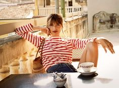 Jeanne Damas for the Reformation. Photo courtesy of the brand.-Wmag Parisian It girl Jeanne Damas talks about her design debut for the Reformation, New York versus Paris style, and her personal fashion uniform. Jeanne Damas, Dress Like A Parisian, Parisian Style, Parisian Fashion, Style Work, Mode Style, French Girl Style, French Girls, French Lady