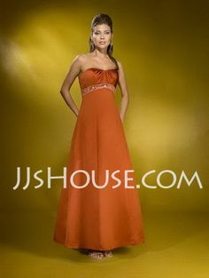 Bridesmaid Dresses - $92.99 - A-Line/Princess Sweetheart Floor-Length Satin Bridesmaid Dresses With Ruffle  Beading (007000892) http://jjshouse.com/A-line-Princess-Sweetheart-Floor-length-Satin-Bridesmaid-Dresses-With-Ruffle--Beading-007000892-g892