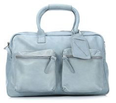 wardow.com - #Cowboysbag, The bag Shopper Leder blau 41 cm