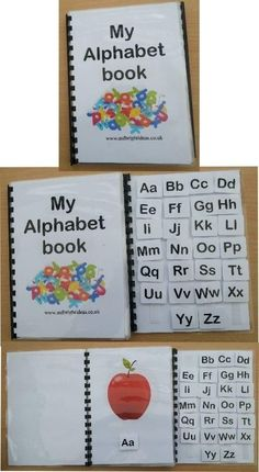 MY ALPHABET BOOK FUN WAY TO LEARN autism/sen/aspergers/classroom/speech Description A great way to learn the alphabet, this flip book not only helps with the learning of the alphabet but also helps with fine motor Preschool Literacy, Preschool Lessons, Kindergarten, Autism Activities, Alphabet Activities, Preschool Alphabet, Childhood Education, Kids Education, Special Education
