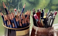 "Photorealistic Paintings by Steve Mills ""pens pencil"""
