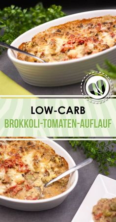 Broccoli and tomato casserole, delicious and easy-Brokkoli-Tomaten-Auflauf, lecker und einfach The Broccoli Tomato Casserole is a simple but tasty low carb dish. It is also gluten-free. Clean Eating Recipes, Healthy Dinner Recipes, Low Carb Recipes, Vegetarian Recipes, Law Carb, Plat Simple, Easy Meals, Tasty, Dishes