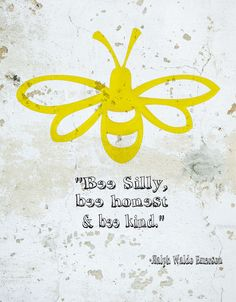 Animal Quotes Bee Silly Graphic Art on Wrapped Canvas