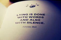 Lying. SO SO TRUE!!
