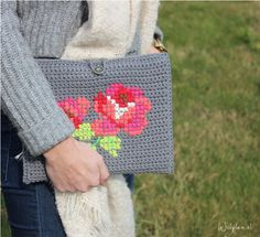 Embroidered Crochet Bag ~ Inspiration!