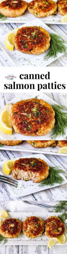 Best Canned Salmon Patties Easy canned salmon patties that are the best ever!You can find Seafood dishes and more on our website.Best Canned Salmon Patties Easy canned s. Canned Salmon Patties, Best Salmon Patties, Salmon Patties Recipe, Salmon Recipes, Meat Recipes, Seafood Recipes, Baked Chicken Recipes, Fish Recipes, Crockpot Recipes