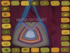 multi colour crocher bag