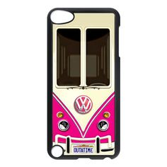 new VW volkswagen pink apple ipod 5 Touch case cover, US $16.89