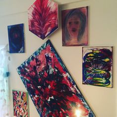 Abstraction Gallery Wall, Abstract, Frame, Painting, Home Decor, Art, Homemade Home Decor, Painting Art, A Frame